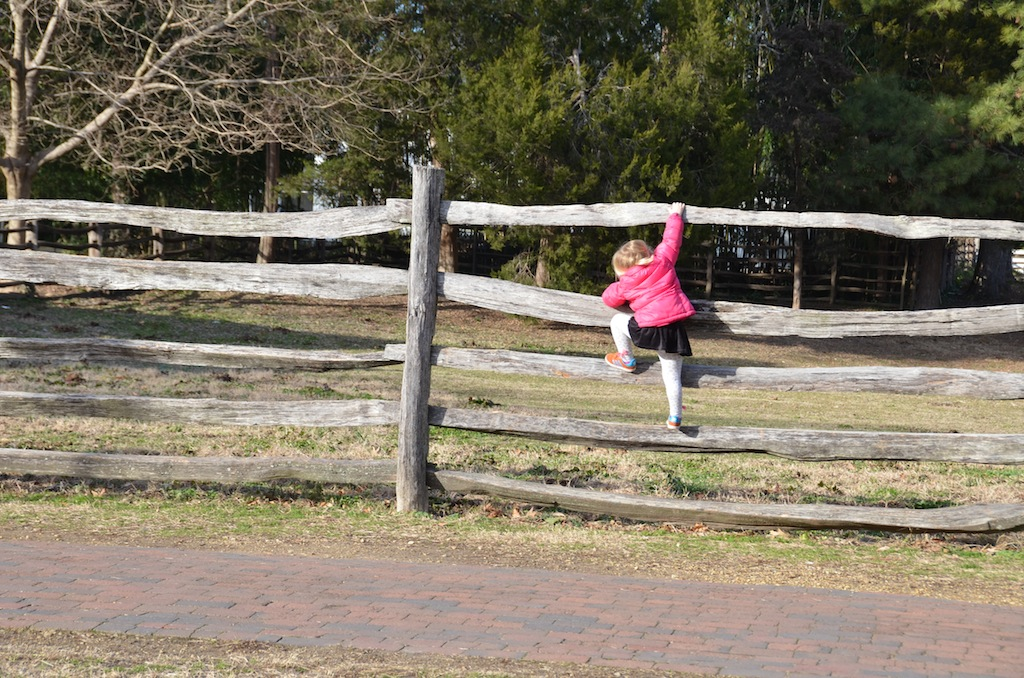 Girl at Colonial Williamsburg