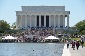 Lincoln Memorial during Rolling Thunder