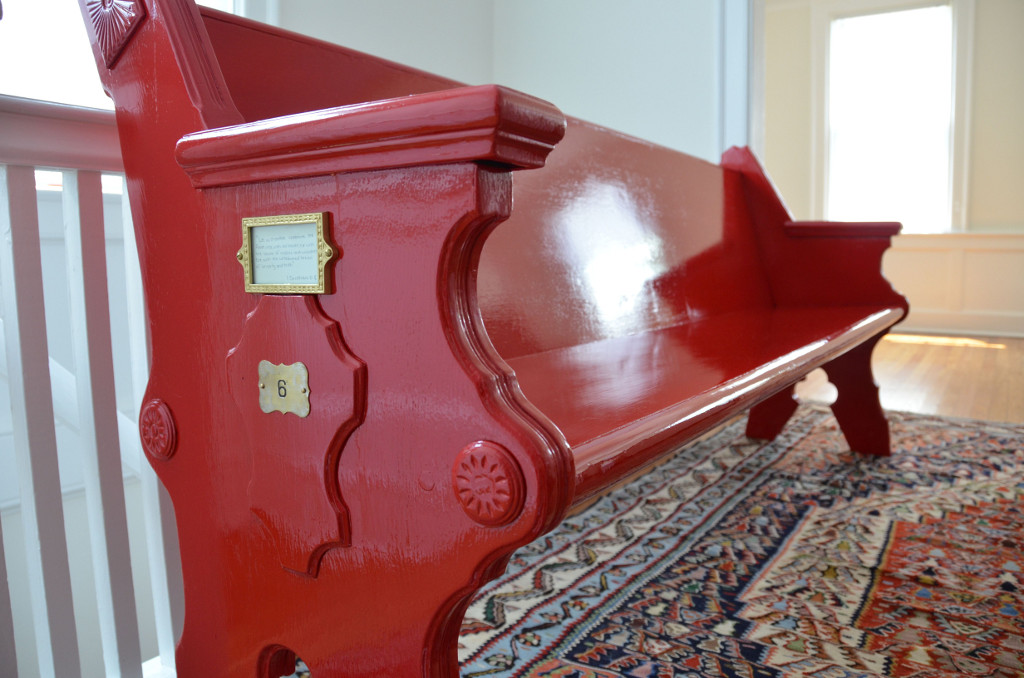Red Lacquer Pew via Good Brown Gravy
