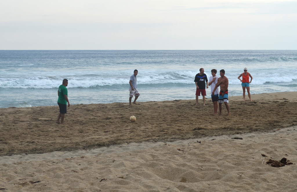 Soccer at Playa Viva