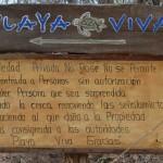 Playa Viva Sign