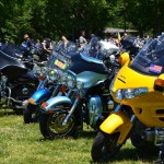 Motorcycles during Rolling Thunder 2013