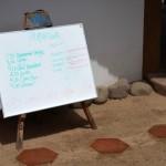 Playa Viva Activity Board