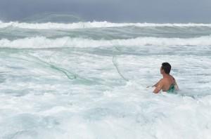 Fisherman near Juluchuca, Mexico